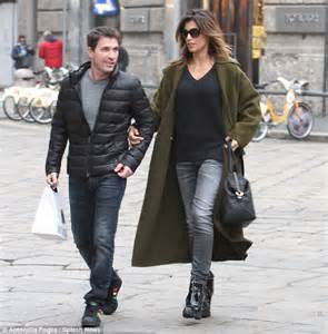 elisabetta canalis steps out with husband brian perri in milan daily mail online