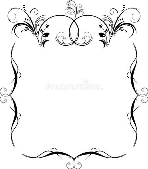 imagenes en negro word modelo para el marco negro aislado en el blanco