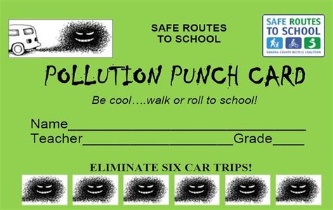 punch card template publisher frequent walk roll pollution punch card programs