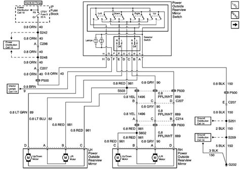 tahoe power mirror wiring diagram gm forum buick