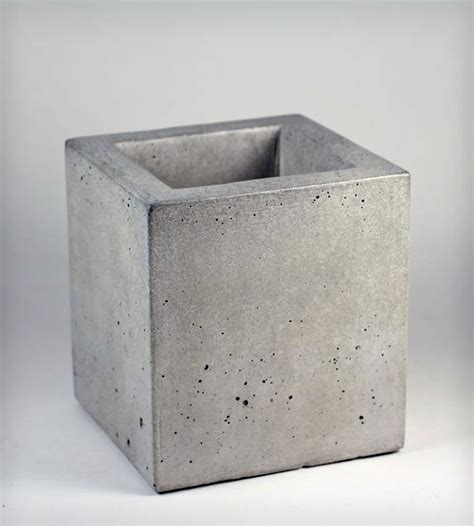 pflanztopf beton square concrete planter home decor lighting