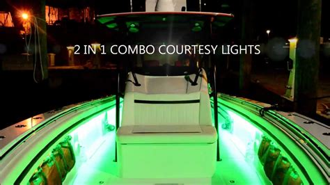 navigation lights on boat not working flo led boat lights under gunnel led boat lighting youtube