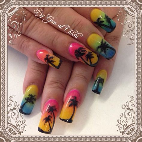 ideas  summer holiday nails  pinterest