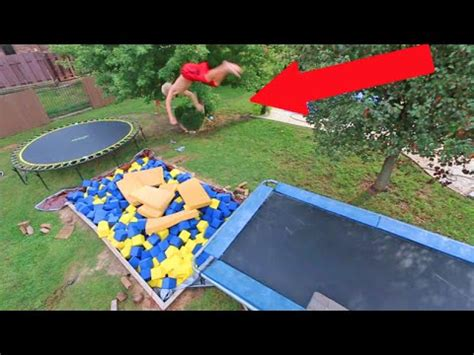 backyard foam pit insane backyard foam pit youtube