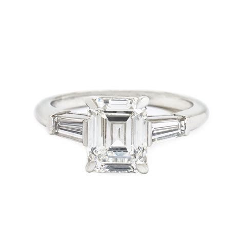 co emerald cut tapered baguette ring