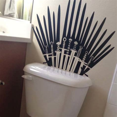 toilet seats game of thrones and game of on pinterest game of thrones iron throne vinyl sticker delivers king
