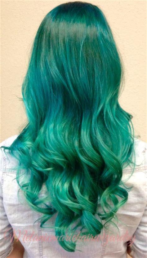 emerald hair color hair tagged as pravana vivids green