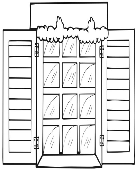 coloring page for window printable christmas coloring page snowy window