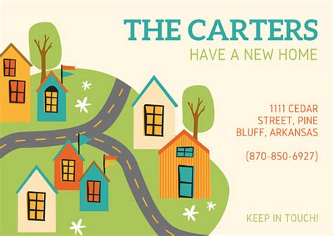 new home change of address card templates by canva