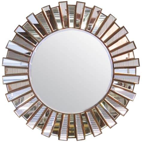 one mirror large mirrored sunburst mirror at 1stdibs