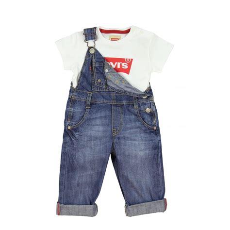 T B B Denim Baby Boy levi s baby boys blue denim dungarees with branded tag