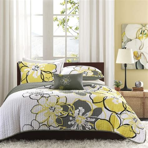 Gray And Yellow Comforters by Yellow Bedding Sets Interior Design Ideas