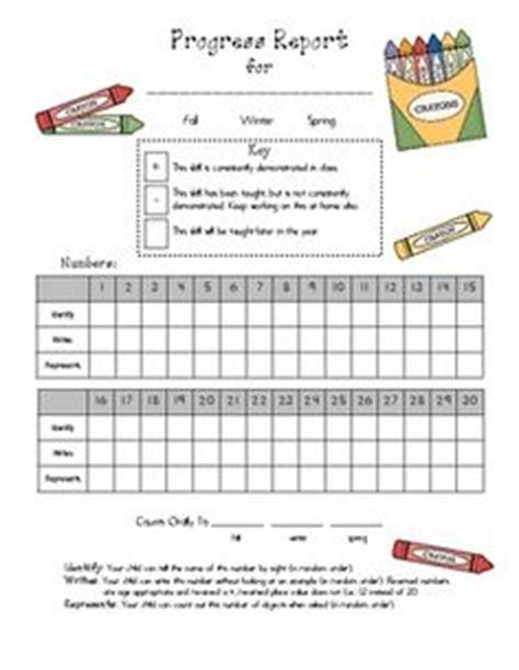 preschool progress report template word 1000 images about progress reports on report
