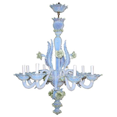19th Century Murano Glass Ciocca Chandelier For Sale At Murano Chandeliers For Sale