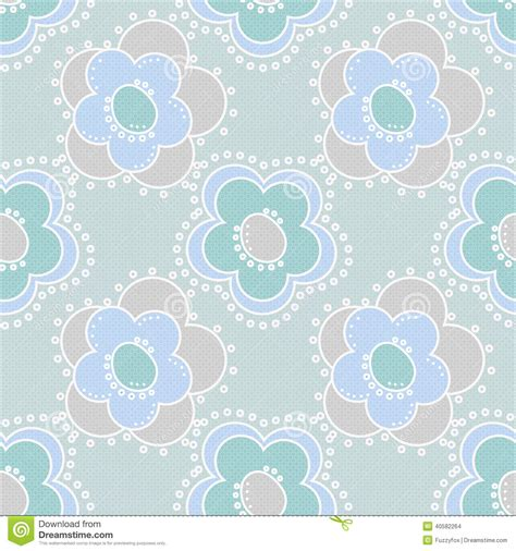 pattern cute blue seamless kids pattern with cute cartoon flowers on blue