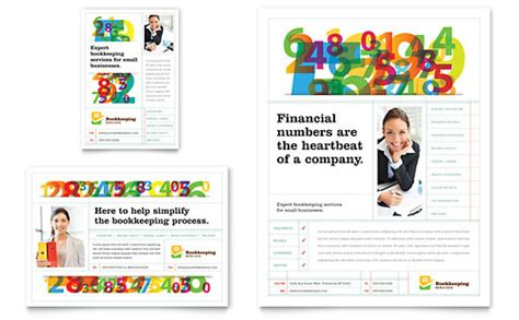 Bookkeeping Services Template accounting bookkeeping flyer templates financial