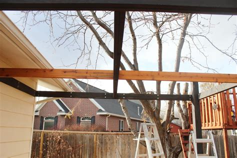 How To Install Modern Pergola Rafters Without Brackets How To Install A Pergola