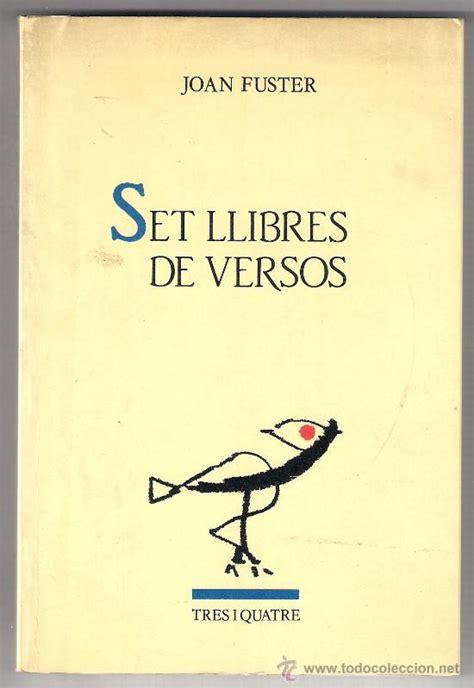 Joan Set joan fuster set llibres de versos 1 186 edici 243 comprar