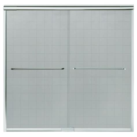Sterling 3 Tub Shower by Sterling Standard 52 In X 56 7 16 In Framed Sliding Tub Shower Door In Silver 690b 52s The