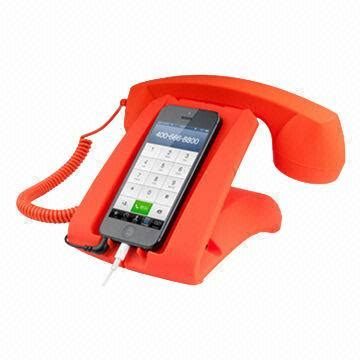 The Retro Phone Handset Gets Even Better With Bluetooth Technology by Handset Stand For Mobile Phones Retro Handset Stand