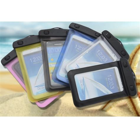 Waterproof Bag For Smartphone 47 55 Inch Abs180 105 Hitam waterproof bag for smartphone 4 7 5 5 inch abs180 105