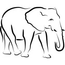 Outline Drawings Of Animals by Elephant Outline Clipart Best