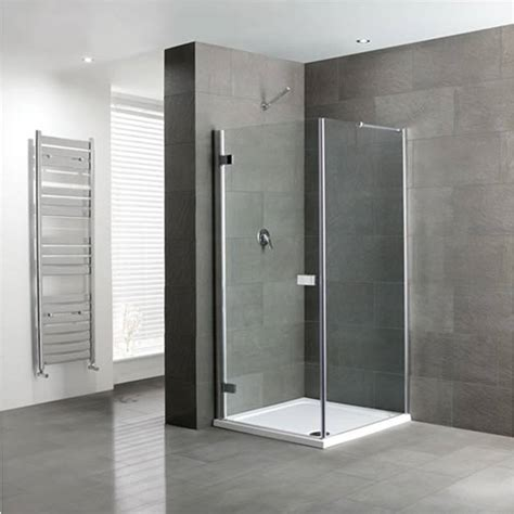 Hinged Frameless Shower Doors Volente Frameless Hinge Door Silver Shower Enclosure Buy At Bathroom City