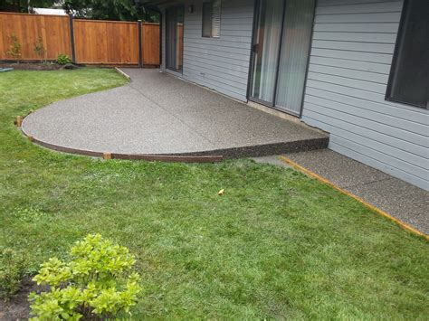 exposed aggregate patio in langley coastal concrete