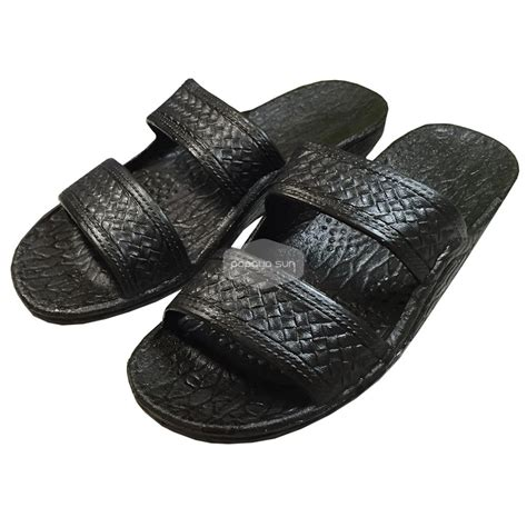 pali hawaii sandals classic black hawaiian jandals pali hawaii jesus sandals
