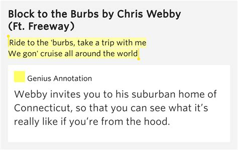 ride to the burbs take a trip with me we gon cruise