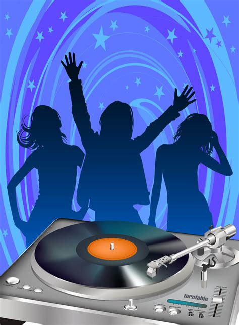 disco party poster template vector art graphics