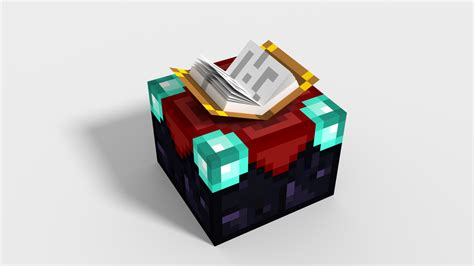 How To Craft An Enchantment Table by 3d Minecraft Enchanting Table By Nokohere On Deviantart