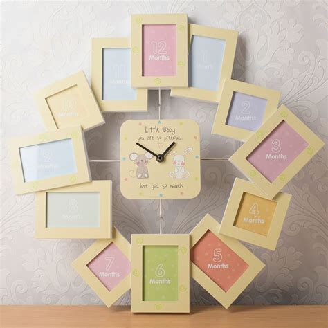 photo presents photo frame clock my first year gettingpersonal co uk