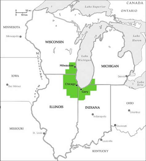 map us chicago vplants about us chicago region state map
