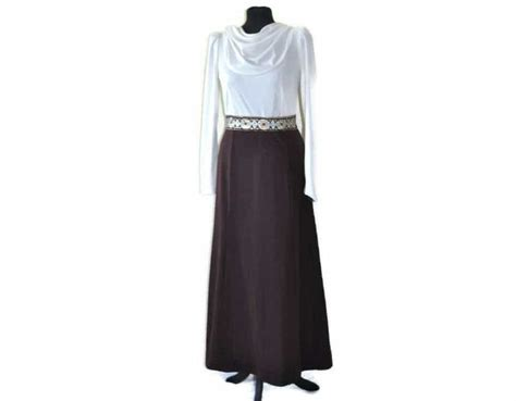 vintage and brown maxi dress size 10 just vintage