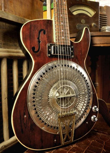 Handmade Resonator Guitars - postal handmade steel city slider resonator electric