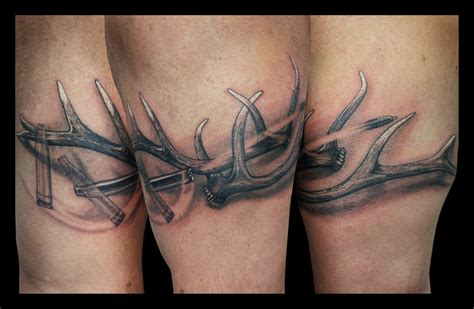 elk antler tattoo by jasonhanks