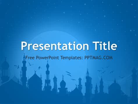 Islam Powerpoint Template Pptmag Islamic Powerpoint Templates