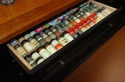 Drawer Inserts For Spices by Spice Drawer Insert Traditional Kitchen Dallas By