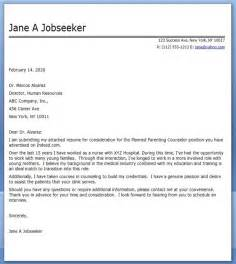 Cover Letter For New Career by Cover Letter Nursing Career Change Resume Downloads
