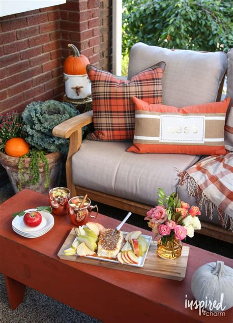 Home Goods Decorating Ideas by Fall Patio Porch Decorating Ideas With Beautiful Pillows