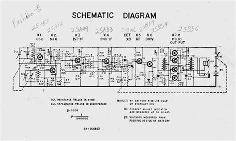 transistor radio schematic diagram am radio circuit diagram free engine image