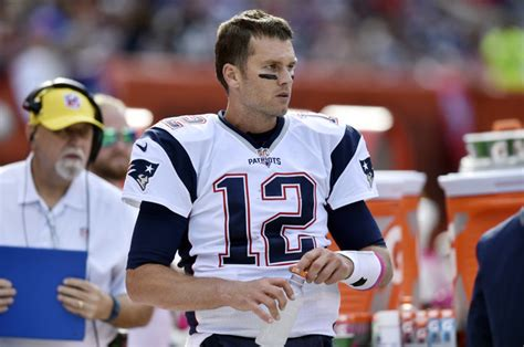 tom brady benched pumped up brady passes for 406 yards in return for