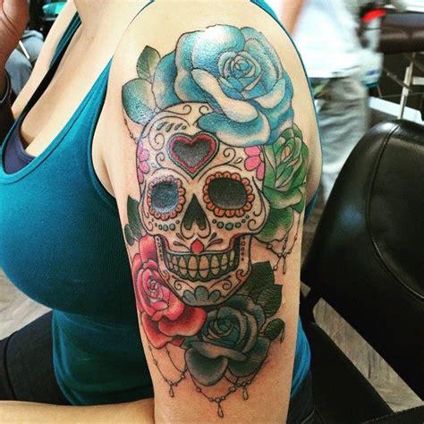 best sugar skull best 25 sugar skull tattoos ideas on arm