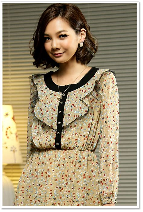 floral dress chiffon women