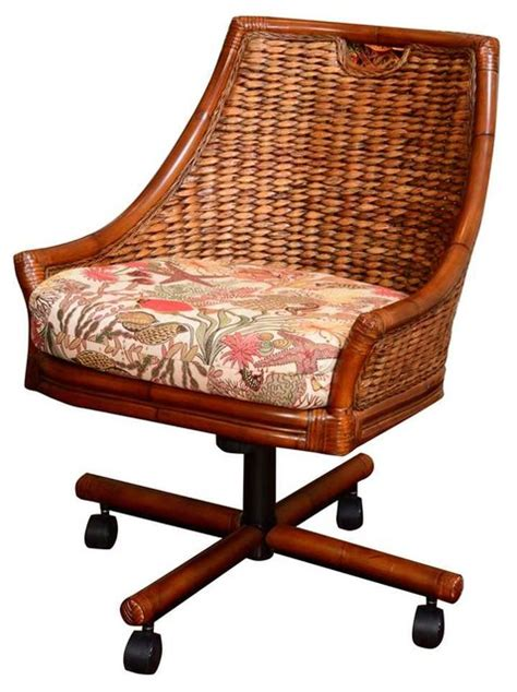 swivel dining chair kanvastex meadow tropical dining chairs