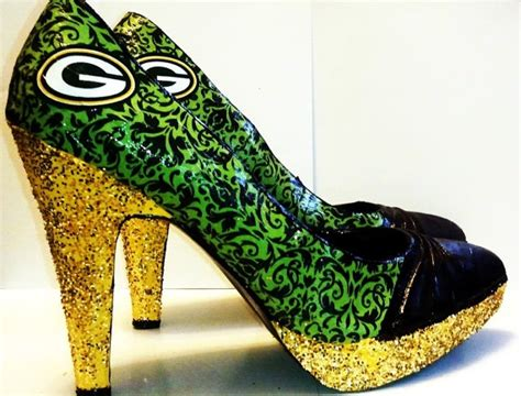 green bay packers high heel shoes size 7 1 2 green bay packers high heel packers shoe