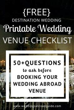 Wedding Checklist Abroad by 1000 Ideas About Destination Wedding Checklist On