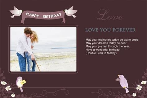 happy birthday card photoshop template photoshop birthday card templates