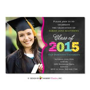 colorful year graduation invitation or announcement inkberry creative inc